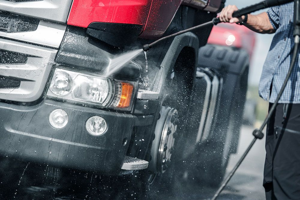 Limpieza de vehiculos industriales